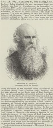 Professor R Copeland, Astronomer-Royal for Scotland