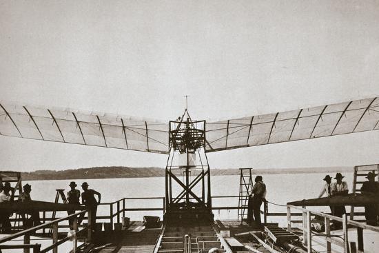 Professor Samuel P Langley's aeroplane, 1903-Unknown-Photographic Print