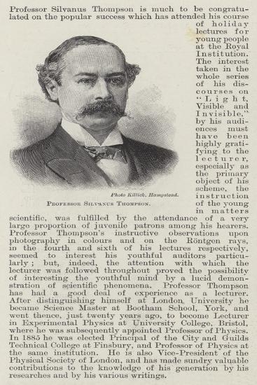 Professor Silvanus Thompson--Giclee Print