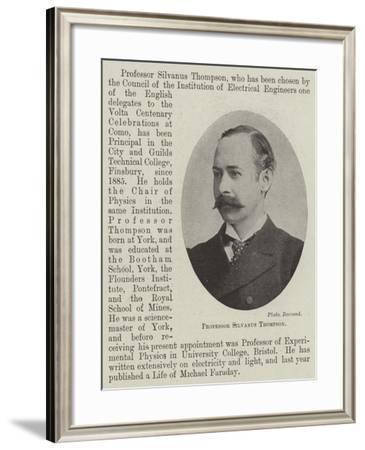 Professor Silvanus Thompson--Framed Giclee Print