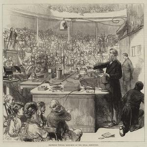 Professor Tyndall Lecturing at the Royal Institution