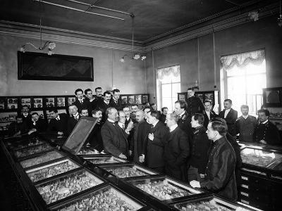 Professors at the Geological and Mineralogical Museum of St. Petersburg--Photographic Print