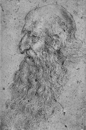 'Profile of an Old, Bearded Man to the Left', c1480 (1945)-Leonardo da Vinci-Giclee Print