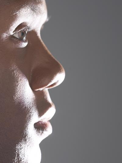 Profile of Man's Face--Photographic Print