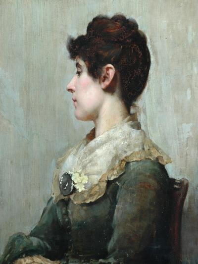 Profile Portrait of a Woman-Albert Starling-Giclee Print