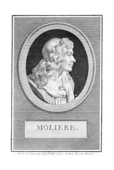 Profile Portrait of Moliere--Giclee Print