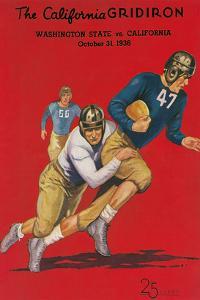 Program for Washington-Cal Football Game, 1936