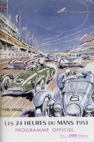 Programme for Le Mans 24 Hours, 1951--Giclee Print