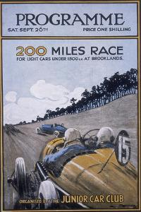 Programme for the 200 Miles Race, Brooklands, 1925