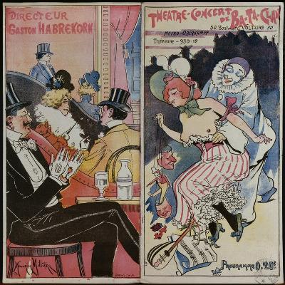 Programme for the Ba-Ta-Clan Cafe Concert, C.1905--Giclee Print