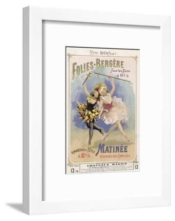 Programmes a Programme Cover for the Famous Folies Bergere Cabaret in Paris--Framed Giclee Print