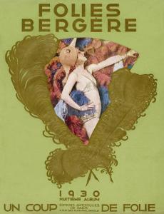 Programmes the Front Cover of the Souvenir Programme for the Famous Parisian Cabaret Show