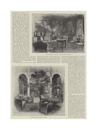 Progress of Domestic Art-Joseph Holland Tringham-Giclee Print