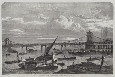 Progress of the Charing-Cross Railway Bridge--Giclee Print