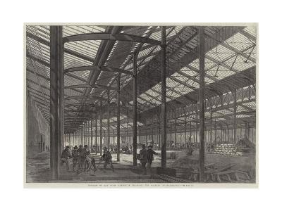 Progress of the Paris Exhibition Building, the Galerie Internationale--Giclee Print