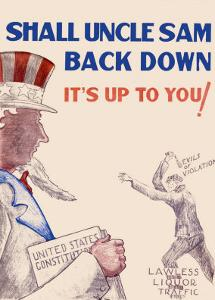Prohibition, Shall Uncle Sam Back Down