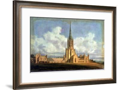 Projected Design for Fonthill Abbey, Wiltshire, 1798 (W/C on Wove Paper Backed with Linen)-J^ M^ W^ Turner-Framed Giclee Print