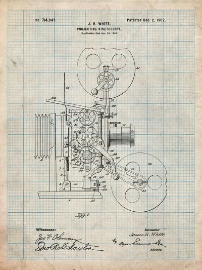 Projecting Kinetoscope Patent-Cole Borders-Art Print