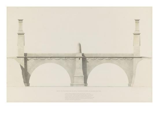 Projet d'un monument que l'on suppose placé aux frontières de la France et de l'Italie : vue de-Henri Labrouste-Giclee Print