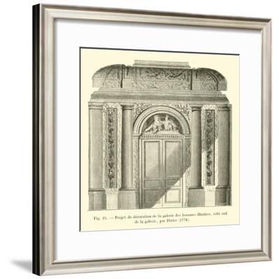 Projet De Decoration De La Galerie Des Hommes Illustres, Cote Sud De La Galerie, Par Pietre, 1778--Framed Giclee Print