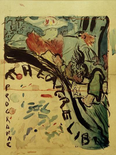Projet du Programme Pour le 'Théâtre Libre' (Design for Programme of 'Théâtre Libre'), c.1890-91-Edouard Vuillard-Giclee Print