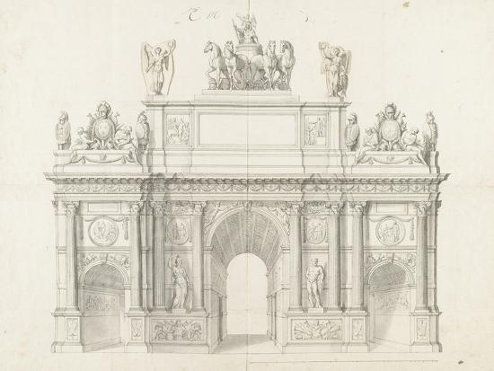 Projet pour l'arc de triomphe de la rue Saint-Antoine à Paris-Charles Le Brun-Giclee Print