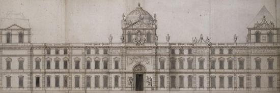 Projet pour la façade orientale du Louvre-Charles Le Brun-Giclee Print