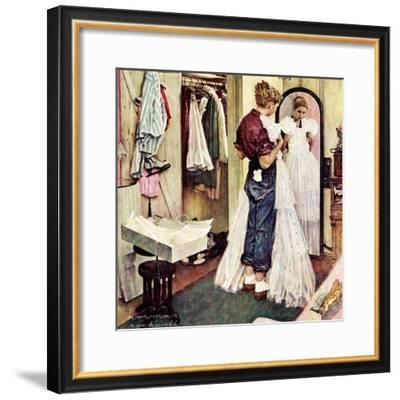 """""""Prom Dress"""", March 19,1949-Norman Rockwell-Framed Giclee Print"""