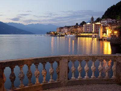 Promenade and Lake at Dusk, Bellagio, Lake Como, Lombardy, Italian Lakes, Italy, Europe-Frank Fell-Photographic Print