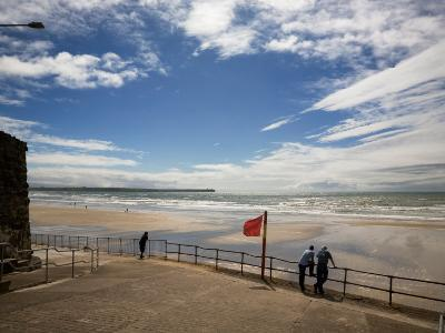 Promenade, Beach and Distant Brownstown Head, Tramore, County Waterford, Ireland--Photographic Print