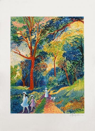 Promenade En Forêt-Lucien Neuquelman-Collectable Print