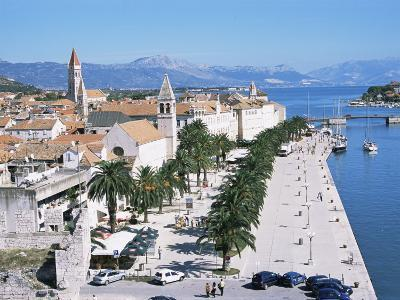 Promenade of the Medieval Town of Trogir, Unesco World Heritage Site, North of Split, Croatia-Richard Ashworth-Photographic Print