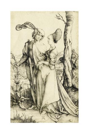 Promenade (Young Couple Threatened by Death)-Albrecht D?rer-Giclee Print