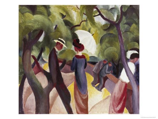 Promenade-Auguste Macke-Giclee Print