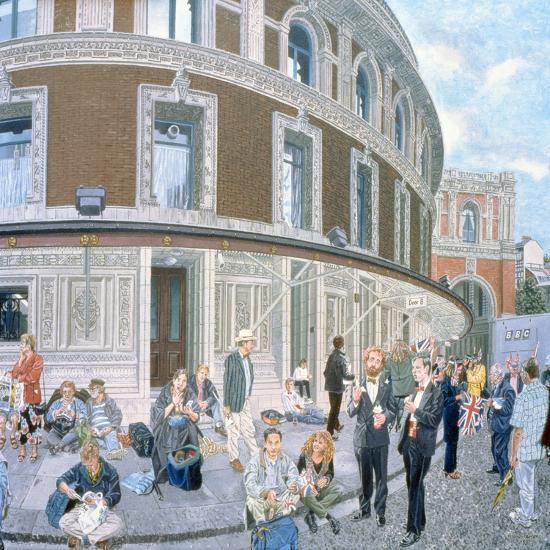 Promenaders at the Last Night, Royal Albert Hall, Detail-Huw S. Parsons-Giclee Print