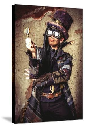 Portrait Of A Steampunk Man In The Ruins
