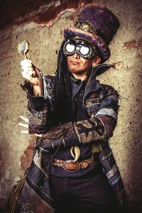 Portrait Of A Steampunk Man In The Ruins by prometeus