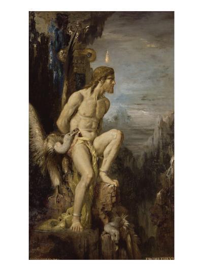 Prométhée-Gustave Moreau-Giclee Print