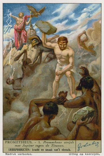 Prometheus and Zeus--Giclee Print