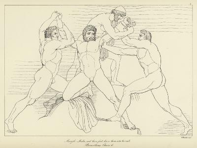 Prometheus Chained-John Flaxman-Giclee Print