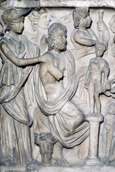 Prometheus creating the First Man, detail of Sarcophagus from Arles, France, c3rd-4th century-Unknown-Giclee Print