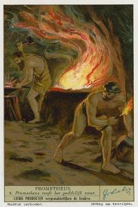 Prometheus Stealing Fire from the Gods