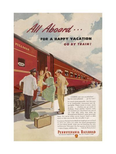 Promoting the Pennsylvania Railroad--Giclee Print