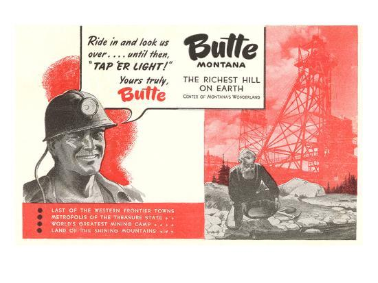 Promotion of Butte, Montana--Premium Giclee Print