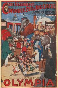 Promotional Poster for Carl Hagenbeck's Wonder Zoo and Big Circus at Olympia