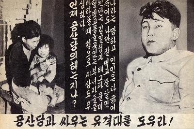 Propaganda Leaflet Distributed by United Nations Forces Lead by U.S. During the Korean War, 1950-53--Art Print