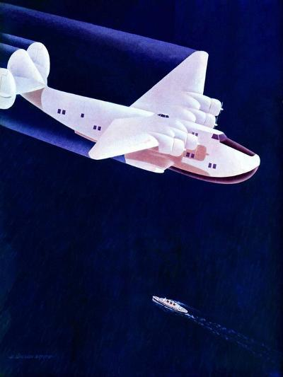 """Propeller Plane,""December 2, 1939-H^ Wilson Smith-Giclee Print"
