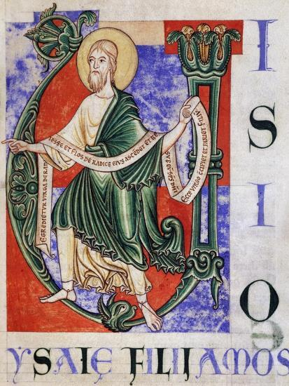 Prophet Isaiah from Citeaux, Miniature from Citeaux Explanatio in Isaiam--Giclee Print