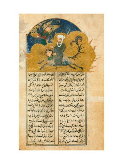 Prophet Muhammados Mystical Ascension to Heaven on the Winged Horse Buraq, Accompanied--Giclee Print