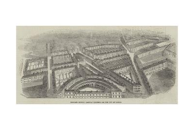 Proposed Central Railway Terminus for the City of London--Giclee Print